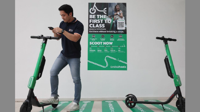 Welcoming Grab e-scooter service in NUS